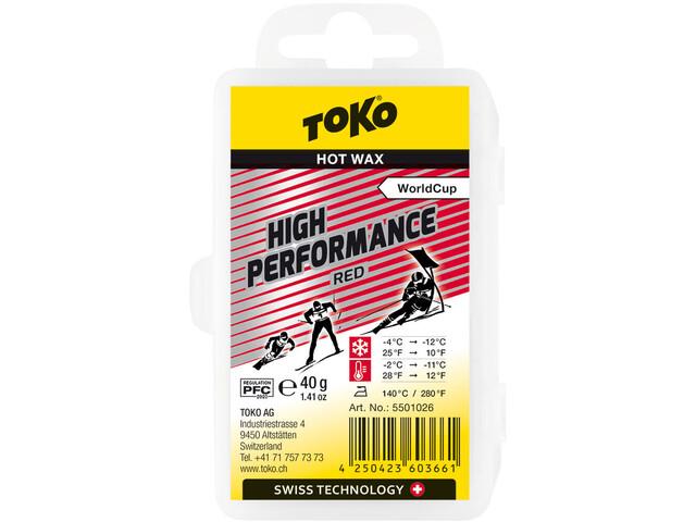 Toko High Performance Cera de Carreras Rojo 40g